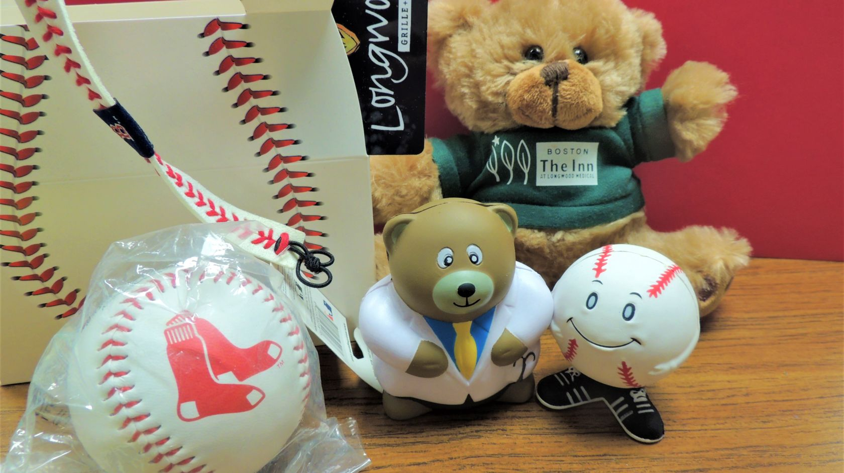 red sox package baseball and teddy bear
